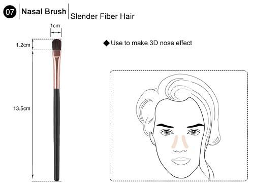 čopič za makeup nosu - 7