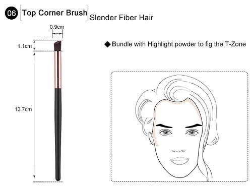 čopič za obrobni makeup obraza - 6